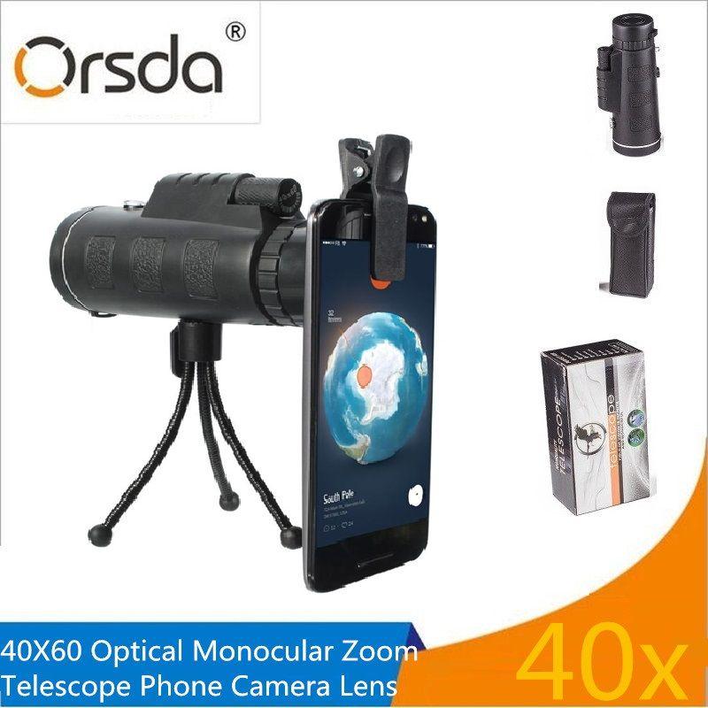 Universal Clip 40x60 Zoom Optique Télescope Téléobjectif Téléphone Mobile Lentille de la Caméra pour ios Android Smartphones Lentilles Avec Paquet