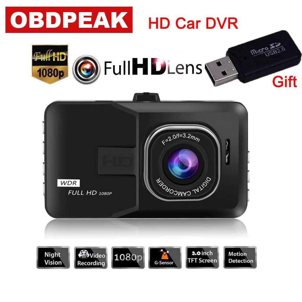 3 Inch Dash Camera Car DVR car rearview mirror 1080P Dash Cam Video Recorder DVR For Driving Recording Car Detector/G30
