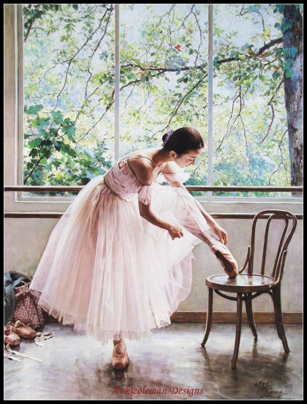 Needlework for embroidery French DMC High Quality - Counted Cross Stitch Kits 14 ct Oil painting - Ballet Dance Girl