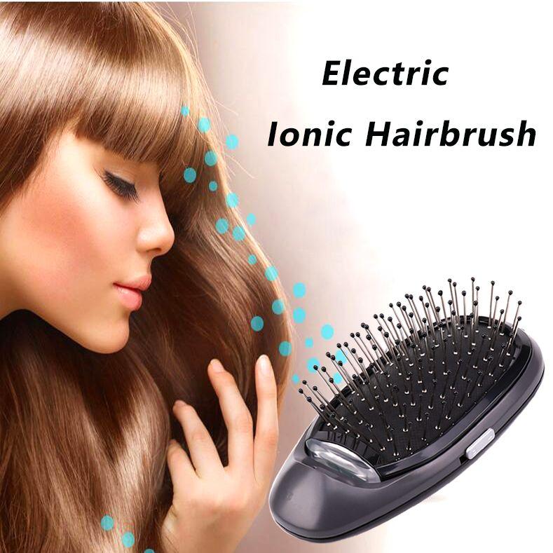 VIP électrique ionique style brosse à cheveux Ions brosse à cheveux peigne modélisation des cheveux magique beauté Massage brosse à cheveux rend les cheveux plus doux brillant