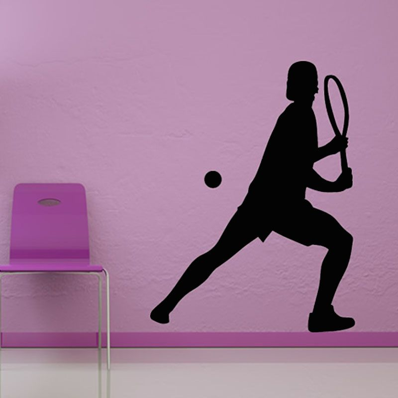 Playing Tennis Wall Sticker Vinyl Art Wall Decal Home Decor Waterproof Self Adhesive Wallpaper For Living Room