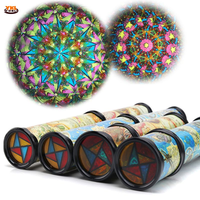 30cm Large Scalable Rotating Kaleidoscopes Extended Rotation Adjustable Fancy Colored World Baby Toy Children Autism Kid Toy -48