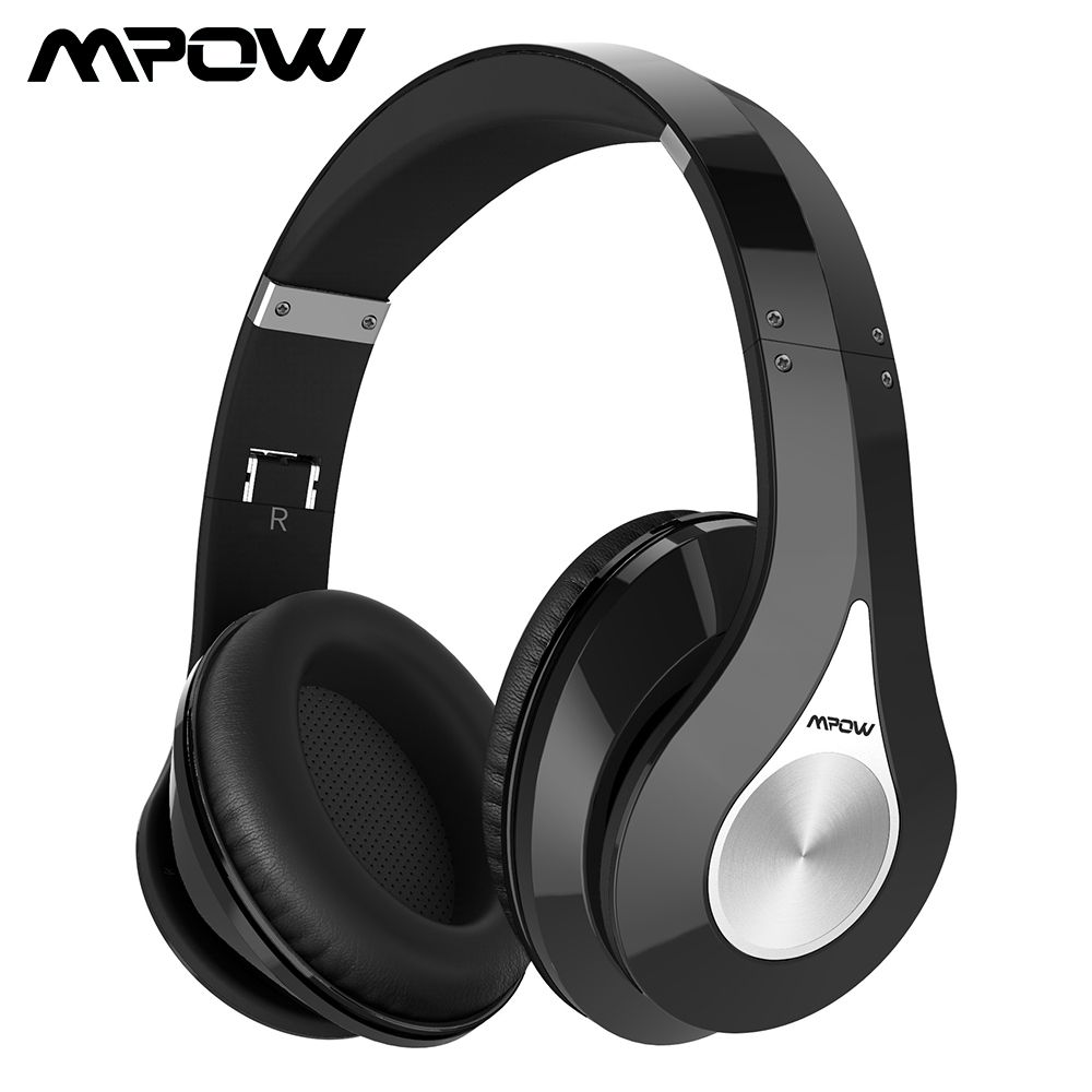 Original Mpow 059 Bluetooth Headphones Noise Cancelling Wireless Stereo Foldable Headphone Ergonomic Design Earmuffs Builtin Mic