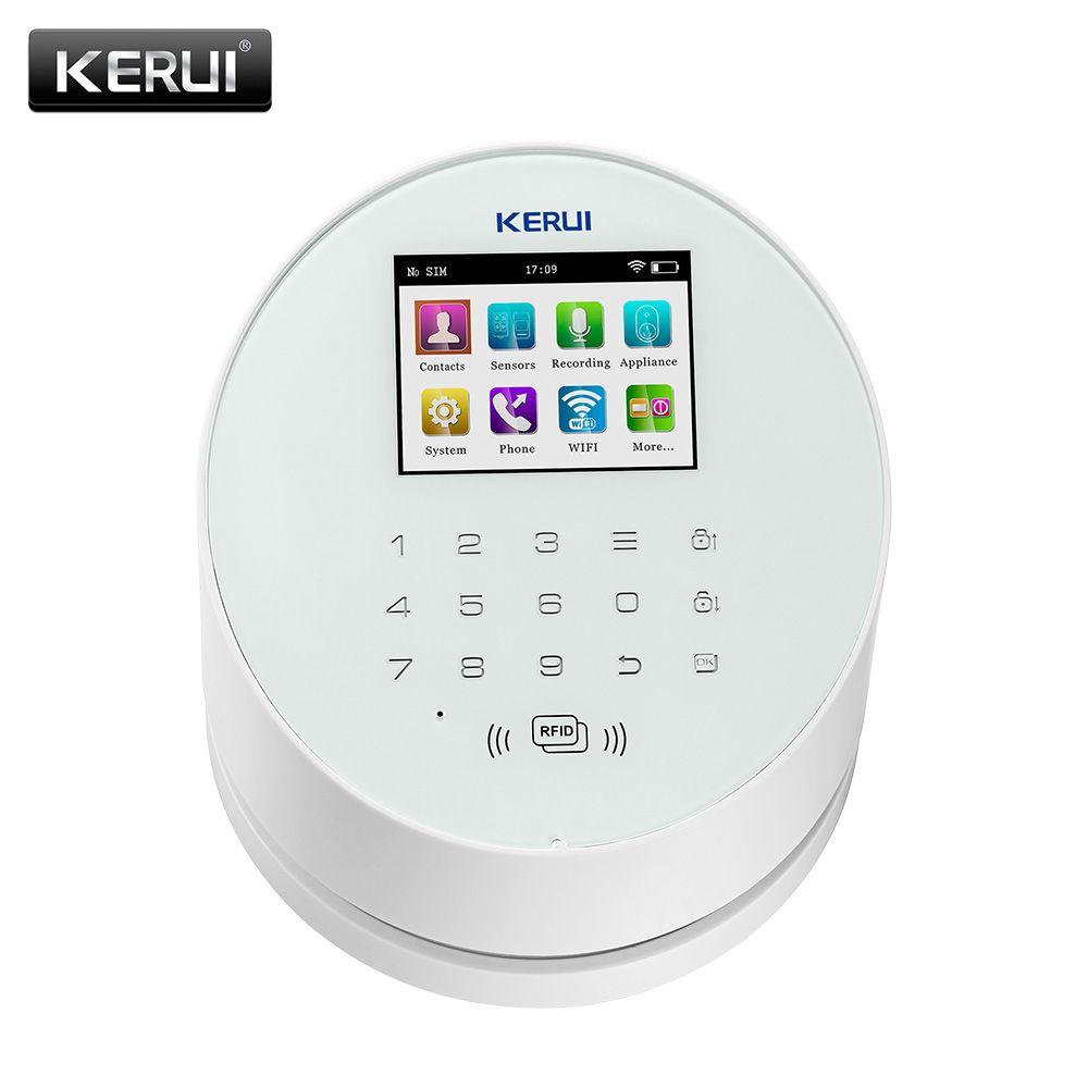 KERUI W2 Wifi GSM Wireless alarm Panel IOS andorid APP PSTN line telephone RFID Disalarm Security Alarm