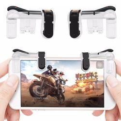 1 par PUBG juego móvil botón objetivo clave teléfono inteligente juego disparo L1 R1 Shooter controlador transparente V4.0