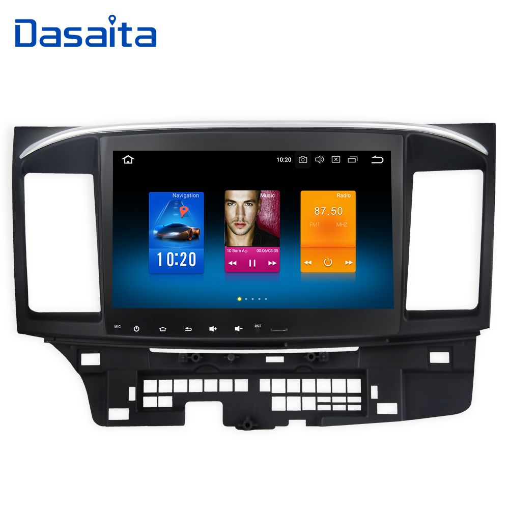 Dasaita 10.2 Android 8.0 Car GPS Player for Mitsubishi Lancer 10 EVO with 4G+32G Octa Core <font><b>Auto</b></font> Stereo Navi Radio Multimedia