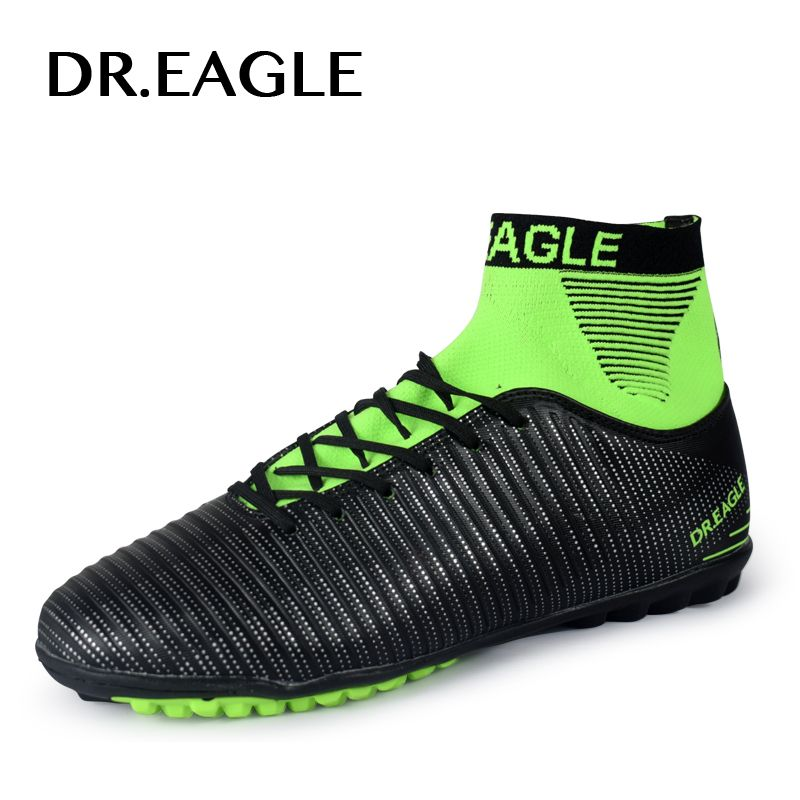 DR.EAGLE Turf/TF High ankle soccer cleats soccer shoes futsal Sock with football shoes indoor FOOTBALL BOOTS Footballs Sneakers