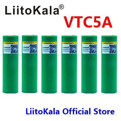 6 stücke liitokala 3,6 v 18650 US18650 VTC5A 2600 mah Hohe Ablauf 40A Batterie Für