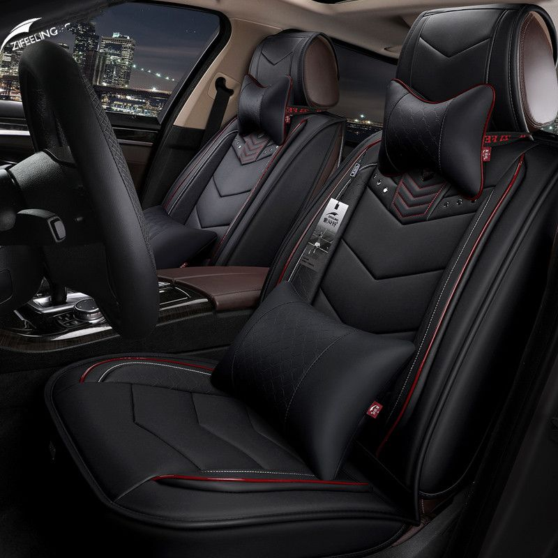 Luxury Leather car Seat Cover Four seasons car leather seat cover 5 seat For Porsche Cayenne SUV Cayman car-styling
