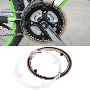 MTB Bike Bicycle Cycling Crankset Wheel Cover Guard Chain Protective Cap Plastic