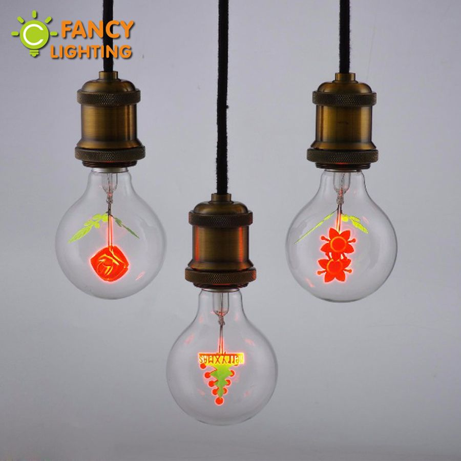 Vintage decorative lamp G80 retro lamp E27 220V holiday light bulb for home/bedroom/living room retro decoration 3W bombillas