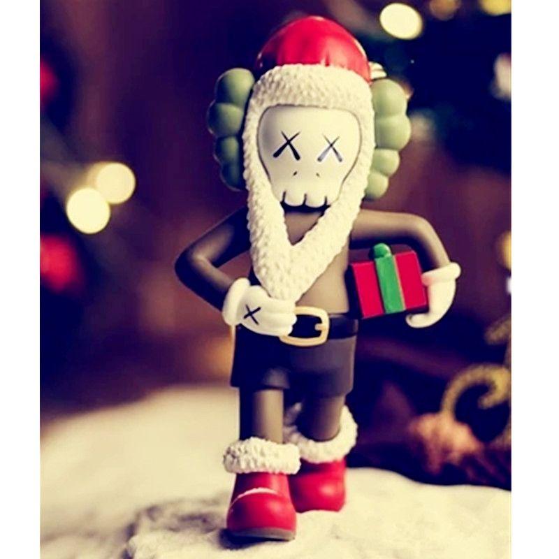 Christmas Present BFF OriginalFake Medicom Toy KAWS Santa Claus PVC Action Figure Collection Model Toy G1094