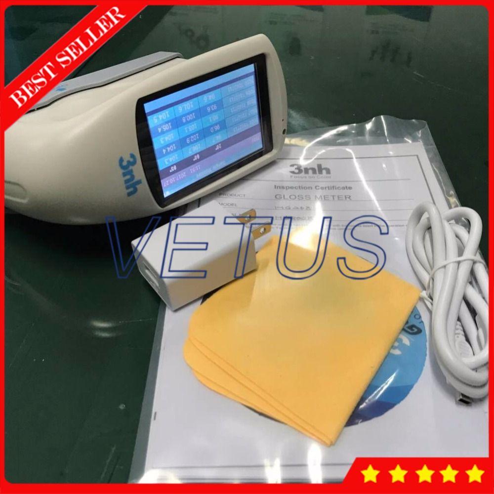 High resolution Glossmeter 20/60/85 digital Gloss Meter for automobile coating marble plastic gloss tester HG268
