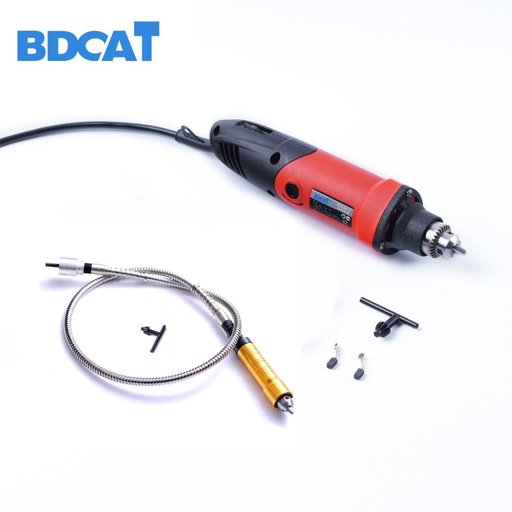 400W 220V BDCAT Dremel Accessories Variable Speed Electric Mini Drill Die Grinder with 6mm Rotary Grinder Tool Flexible Shaft