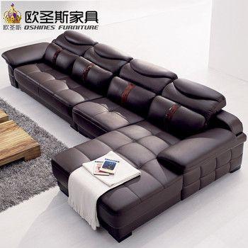 Nouveau modèle l en forme moderne italie véritable réel en cuir coupe dernière coin meubles salon de sexe canapé ensemble L29