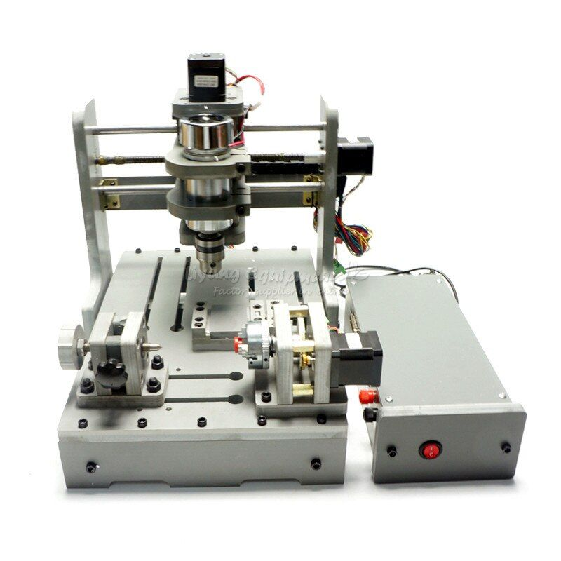 DIY Mini 4 achsen CNC fräsen maschine 300 w holz drehmaschine usb port