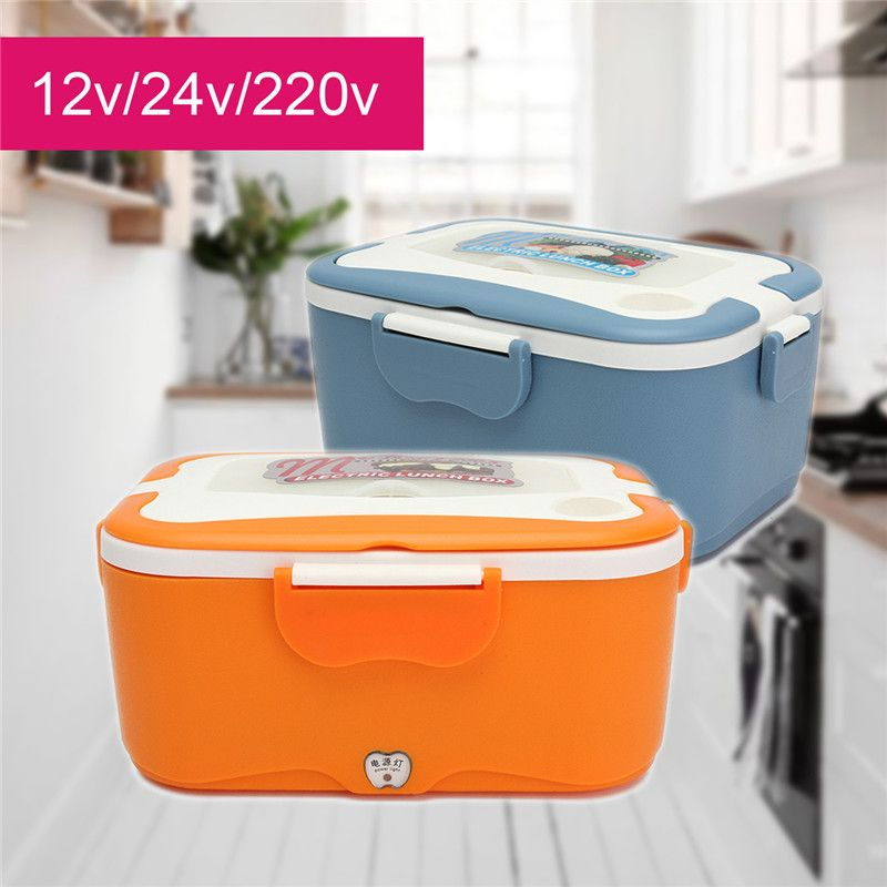 KROAK 12/24V Portable Car Truck Electric Heating Lunch Box Food-Grade Warm Heater Storage Container Food Container Dinnerware