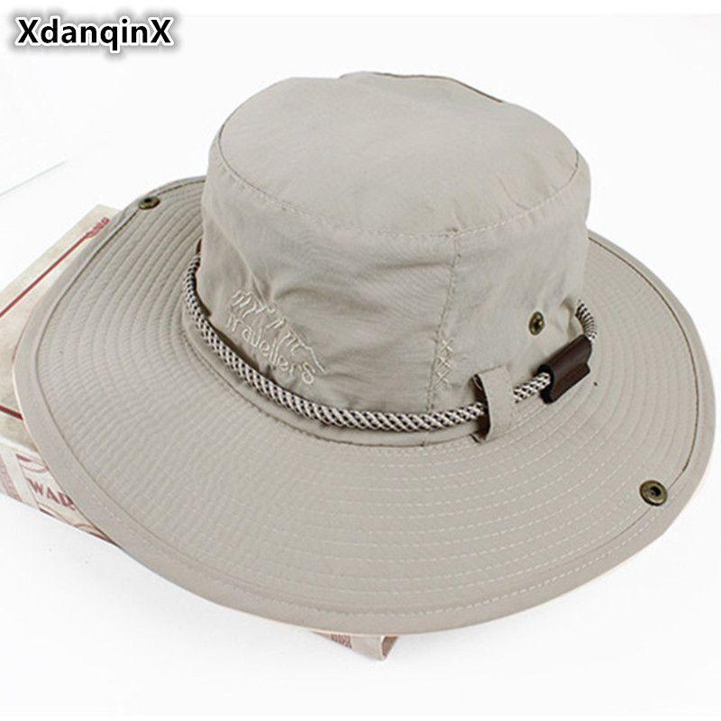 XdanqinX adulte hommes été respirant seau chapeaux pour hommes Style occidental réglable taille maille plage chapeau Snapback papa chapeau de soleil