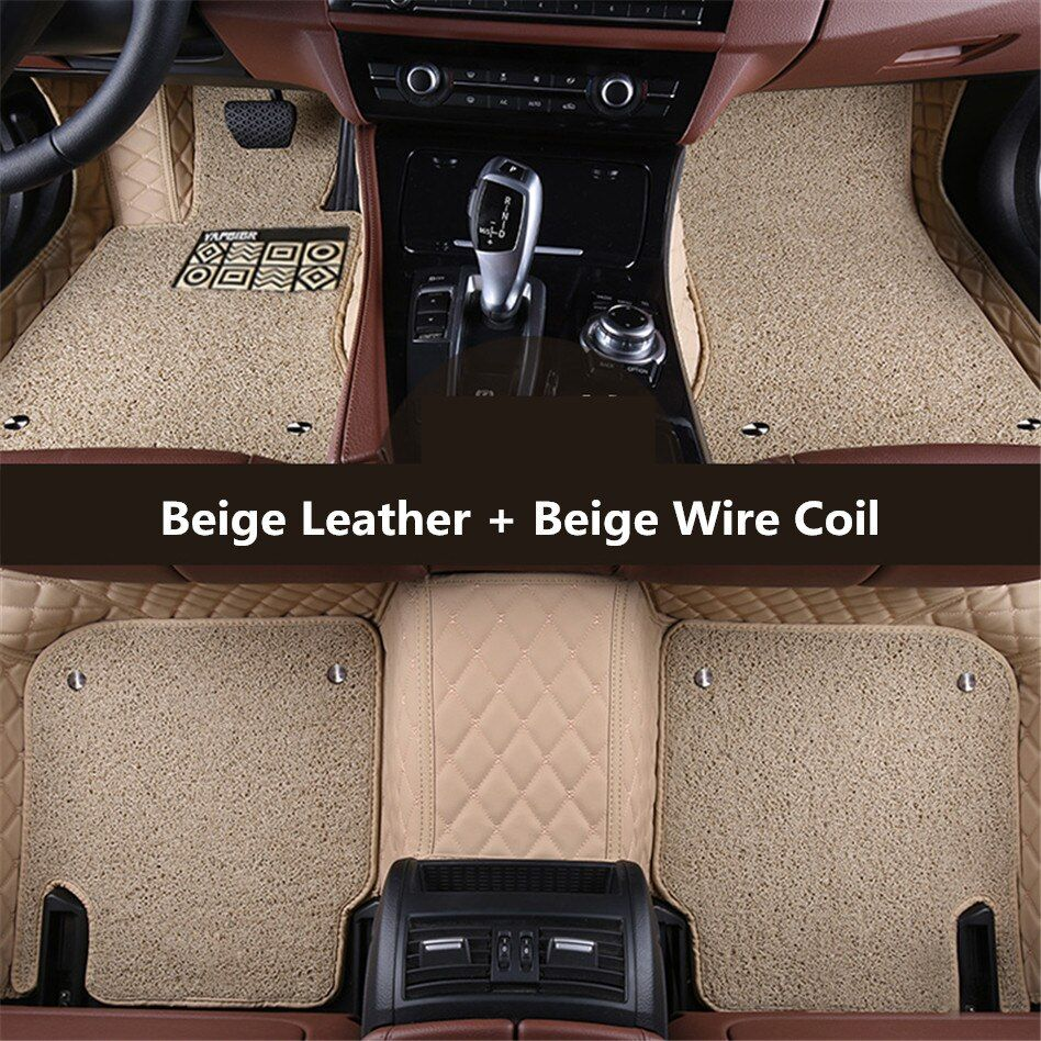 Auto Floor Mats For TOYOTA RAV4 2013.14.15.2016.2017 Foot Carpets Car Step Mat High Quality Embroidery Leather Wire coil 2 Layer