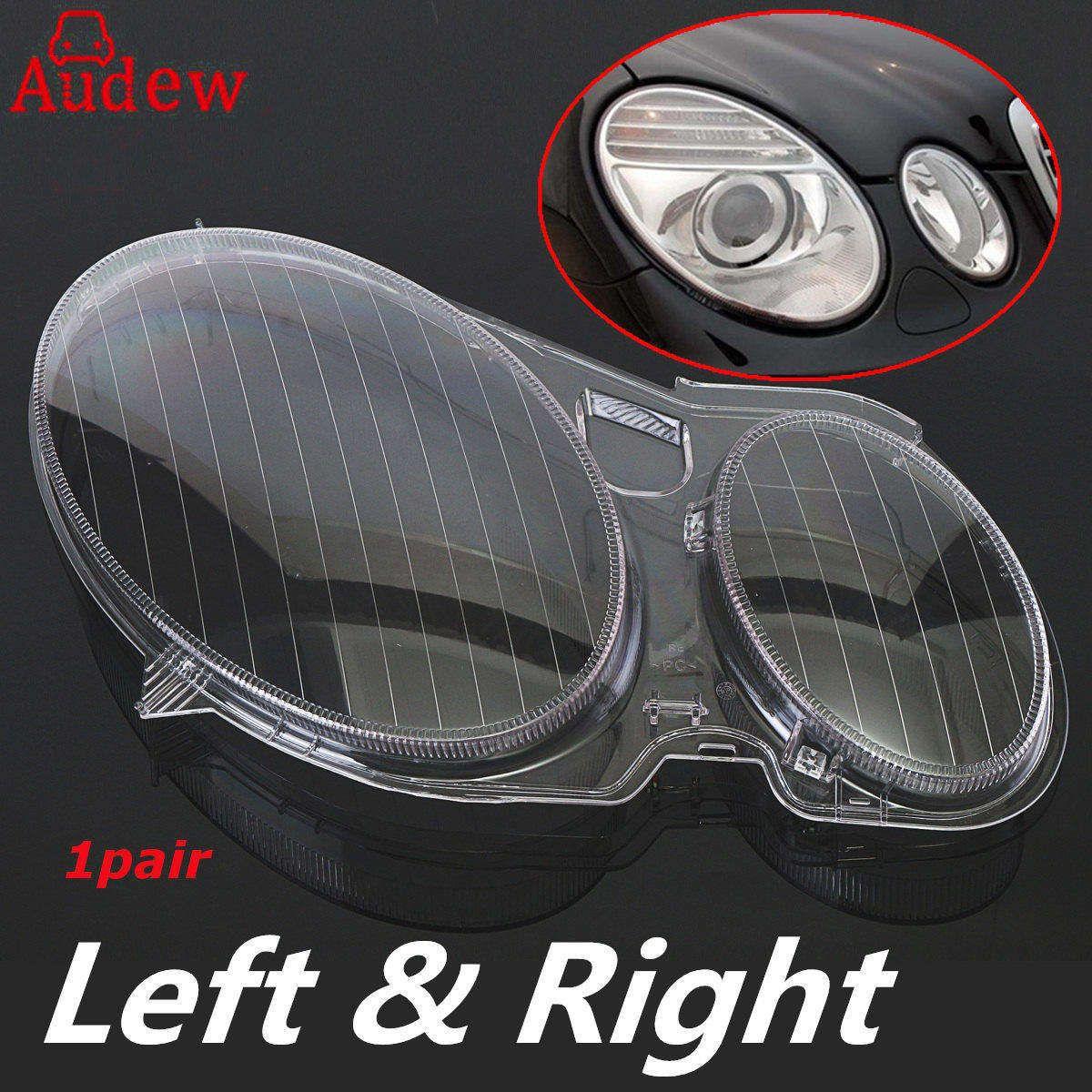 1Pair Car Headlight Lens Clear Lens Headlamp Cover For Mercedes for Benz E320 E350 E280 E300 E500 E550 E CLASS W211 2002-2008