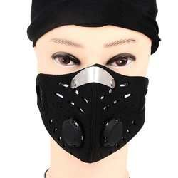 1PC Cycling Bicycle Motorcycle Riding Face Mask Outdoor Sports Snowboard Carbon Protective Filter Thermal Windproof Face Mask