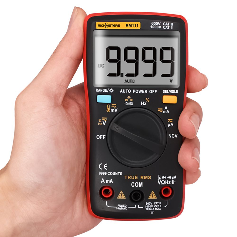 Digital Multimeter RM111 NCV True-RMS Auto Range 9999 counts Temperature Back light AC/DC Voltage Ammeter multimetro Tester