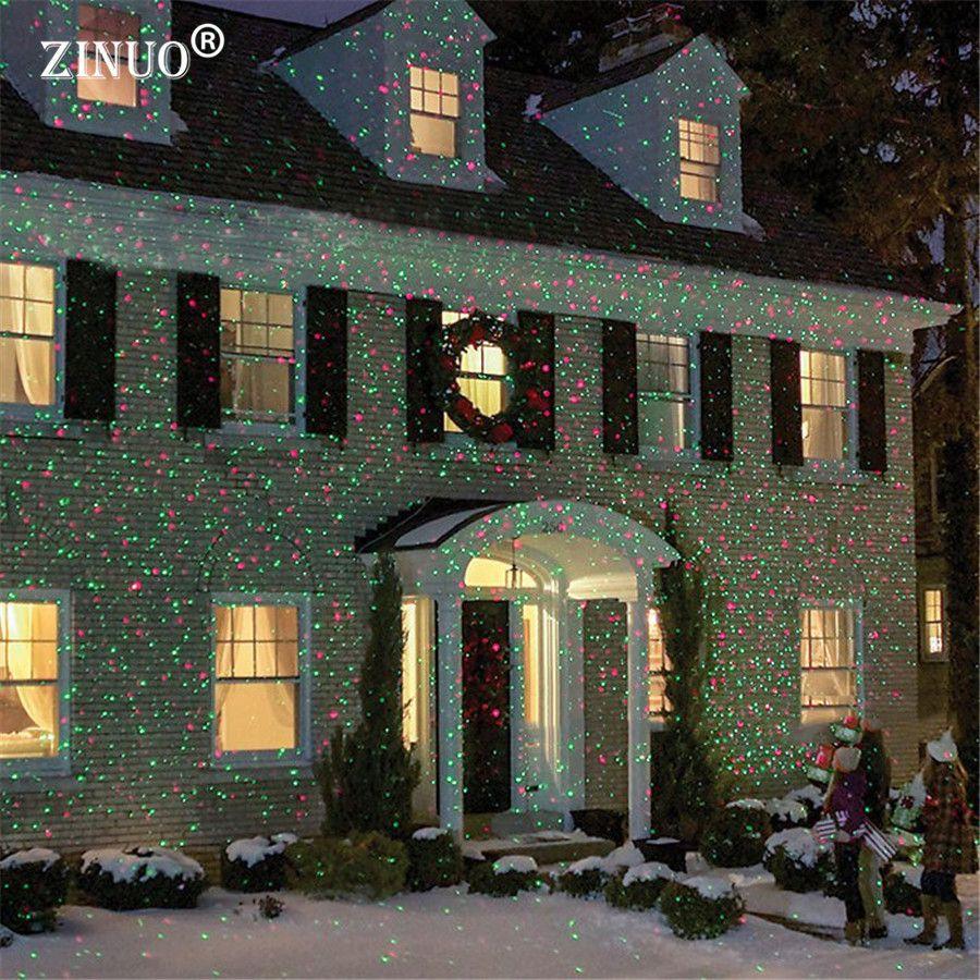 Zinuo открытый перемещение полный Sky Star лазерный проектор пейзаж душ лампы синий и зеленый свет этапа открытый Рождество лазерной лампа