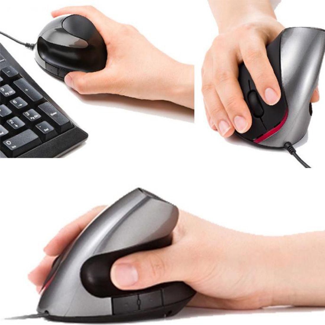 Etmakit Nuevo Diseño Ergonómico USB Vertical Optical Mouse Wrist Healing Para Ordenador PC de Escritorio Del Ordenador Portátil