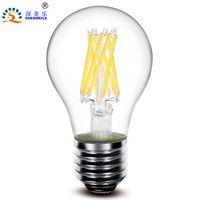 1 unids RXR A19 A60 E26 E27 2 W 4 W 6 W 8 W 360 Grado de vidrio transparente retro Edison LED las lámparas de filamento bombilla de luz 220 V 110 V AC CE