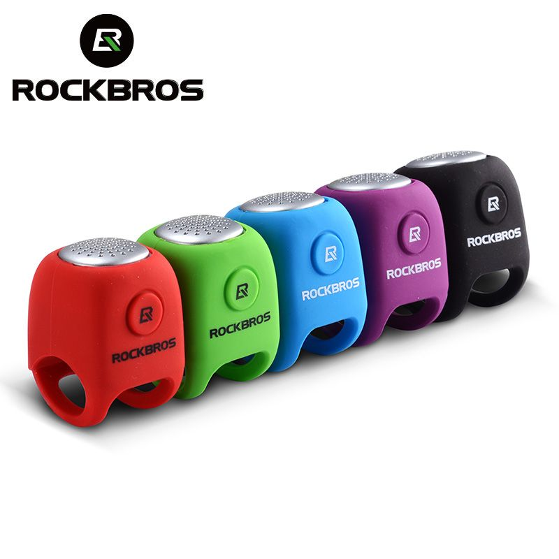 ROCKBROS Electric Cycling Bells 110 dB Horn Rainproof MTB Bicycle Handlebar Bell Silica Gel Shell Ring Bell Bicycle Accessories
