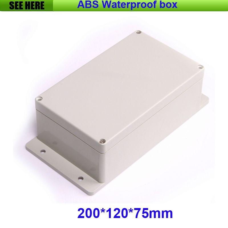Envío Gratis 200*120*75mm A Prueba de agua De Plástico Caja de Proyecto Electrónico Con Caja de Plástico Caja Impermeable Medidor de Oído caja