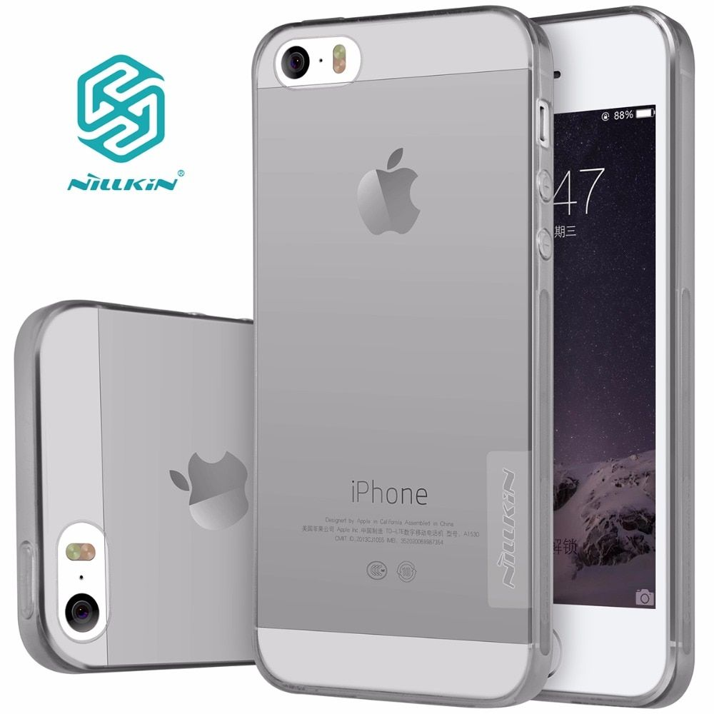 Nillkin for iphone 5s housing nature Transparent Clear Soft silicon TPU Protector top case cover for iphone se 5s retail package