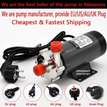 Магнитный привод Homebrew pump MP-15R / класс из нержавеющей стали Head / 140 градусов по Цельсию / 220v Европейский штекер / пиво Главная пивоваренный водян...