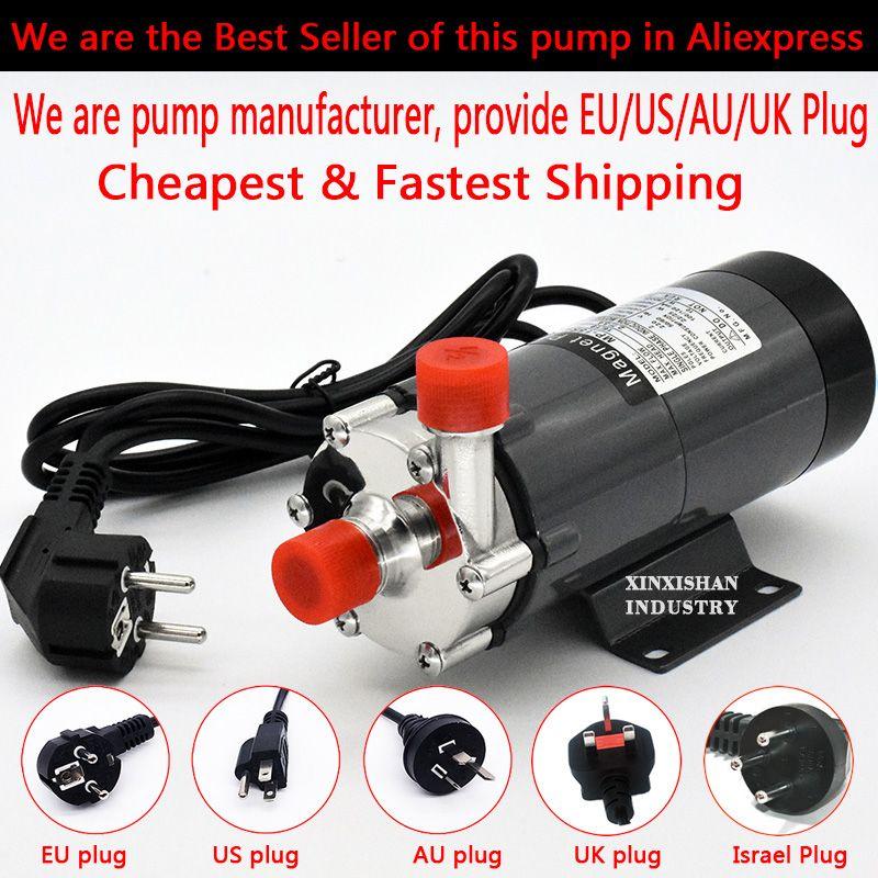 304 acier inoxydable HomeBrew pompe MP-15R qualité alimentaire brassage magnétique pompe à eau maison brassage haute température 140C, 1/2