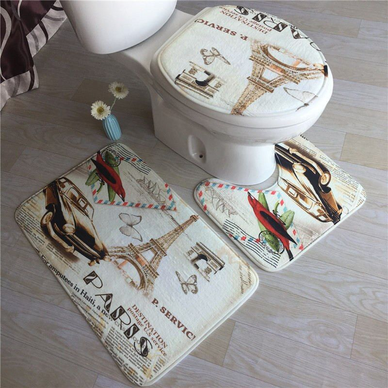 Sea Mats Set Toilet Carpet Shower Room Rugs Non-slip Bathroom Carpet A Wide Variety Of Styles Foot Pads Bathroom Floor Mats