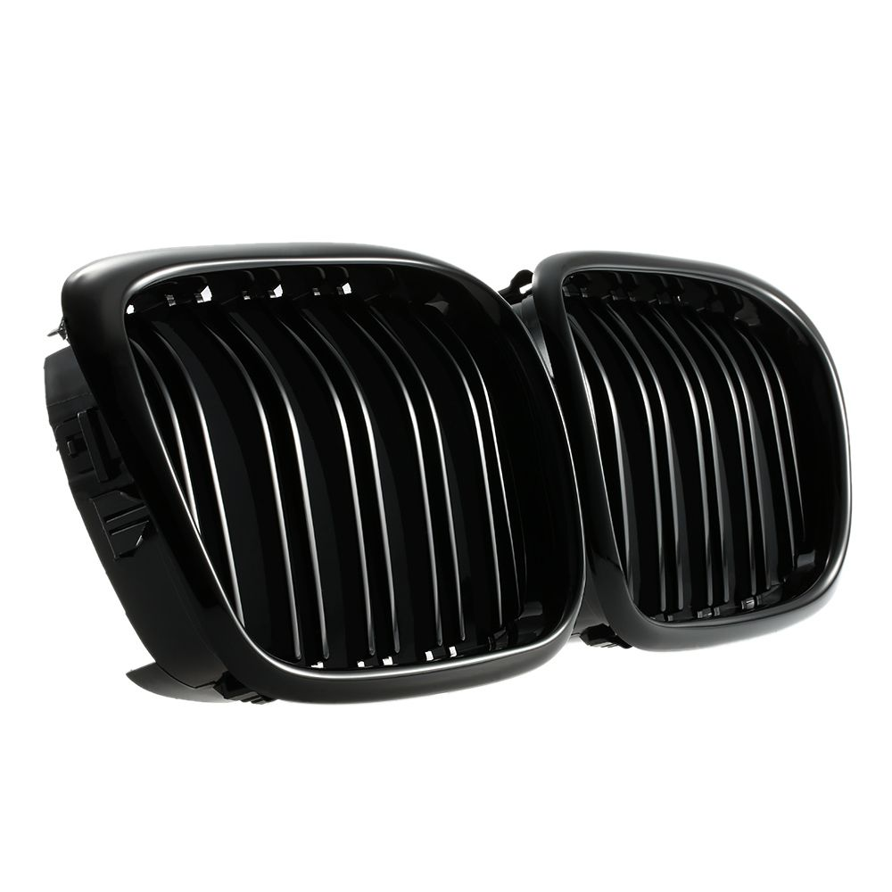 Car Style One Pair of Car Gloss Black Front Grilles for BMW E39 2001-2004
