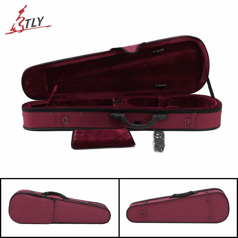 High Quality Oxford Fabric Triangle Violin Case 4/4 3/4 1/2 1/4 w/ Belt Violino Violin Professional Accessories Free Shipping