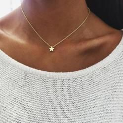 Tiny Heart Necklace for Women SHORT Chain Heart Shape Pendant Necklace Gift Ethnic Bohemian Choker Necklace drop shipping x51