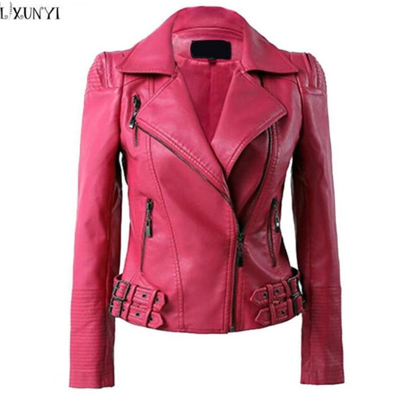 2019 printemps automne veste en cuir femmes coréenne mode Pu manteau en cuir marque grande taille Shorts Faux cuir vestes 2XL 3XL 4XL