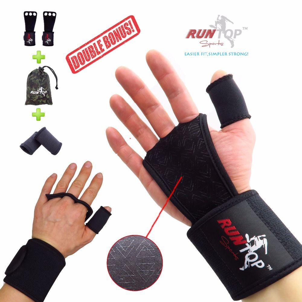 RUNTOP Crossfit WODS Training Grip Gloves 18