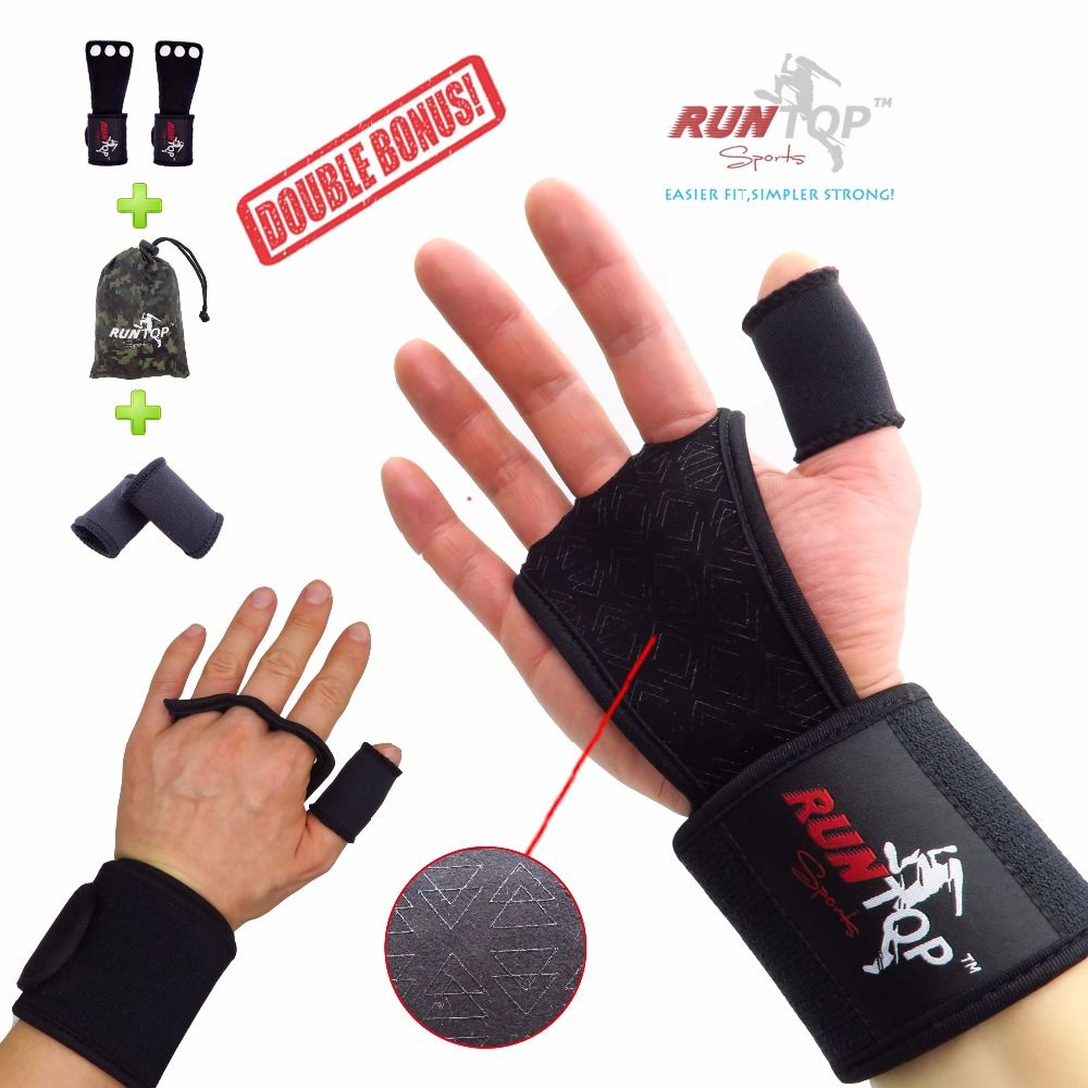 RUNTOP Crossfit WODS Training Grip Gloves 18