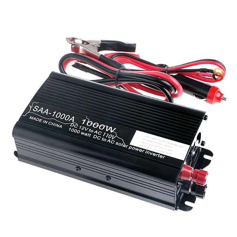 Solar Continuous Inverter 12V DC To 220V AC Modified Sine Wave Converter Car Inverter Power Switch On-board Charger