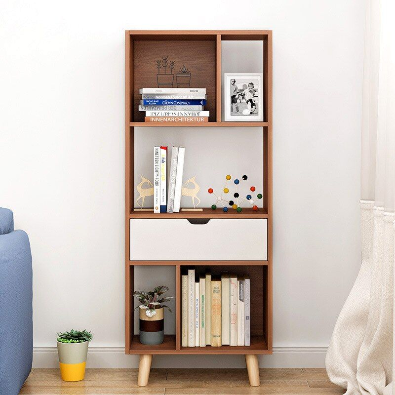 LK1679 Nordic Bookcase Floor Bookshelf Modern Minimalist Living Room Storage Rack Office Racks Fashion Side Cabinet For Sale