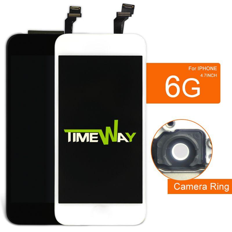 10 pièces AAA Pour iphone 6 6G LCD Affichage Remplacement Lentille Pantalla 4.7 Pouces Tactile Numériseur Pour iphone 6 Écran Livraison Gratuite