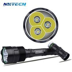 Kecerahan tinggi Crazyfire 3x Bulb XM-L T6 3800 Lumens 5 Mode LED Senter Lampe Lanternas Oleh 2/3x18650 Baterai