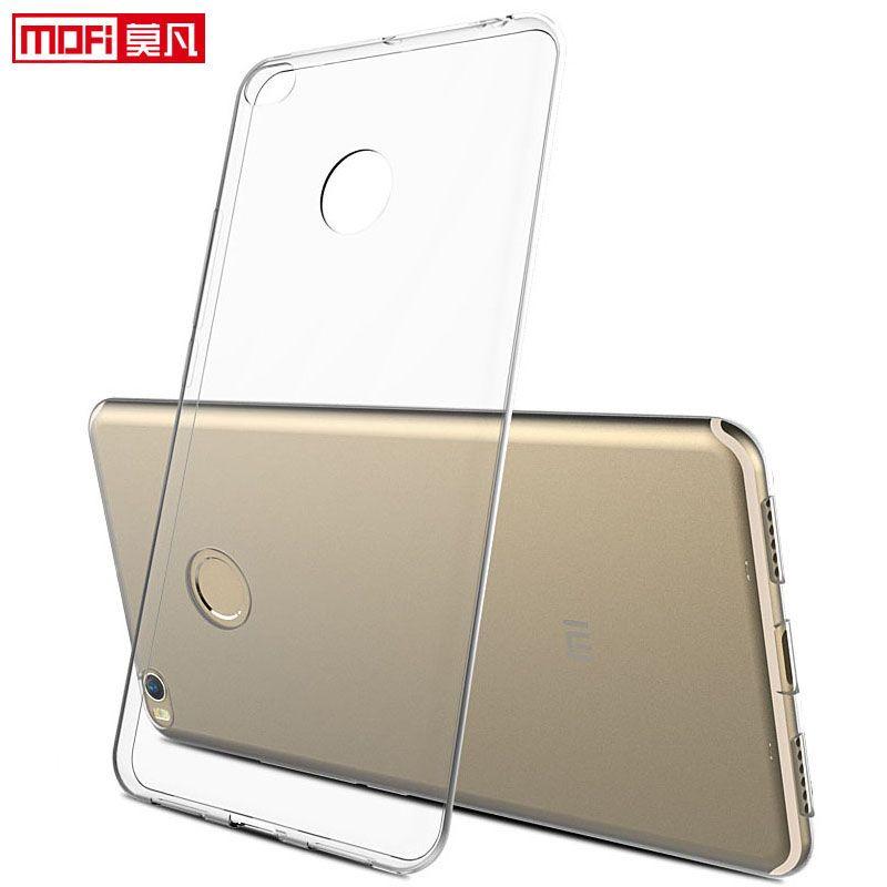Xiaomi mi max 2 cas xiaomi max 2 couverture de silicium clair souple retour mofi ultra mince 6.44