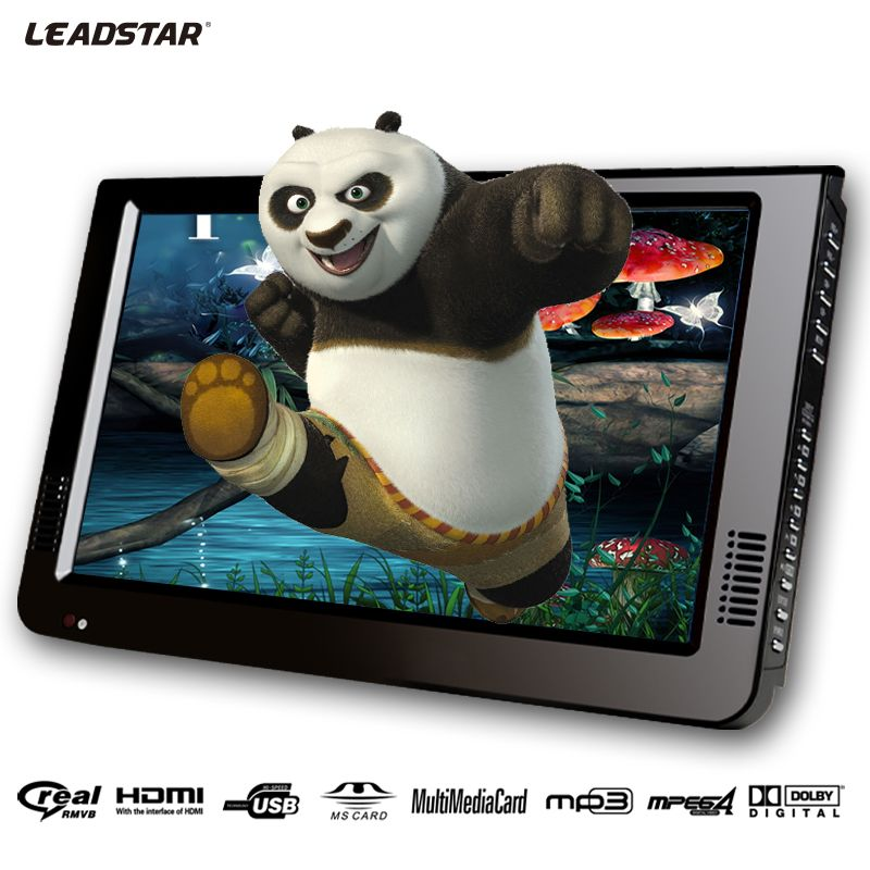 Leadstar 10 Inch DVBT/DVBT2&Analog /ATSC Mini Led HD <font><b>Portable</b></font> Freeview Car Digital TV All In 1 HDMI IN Support USB SD Card