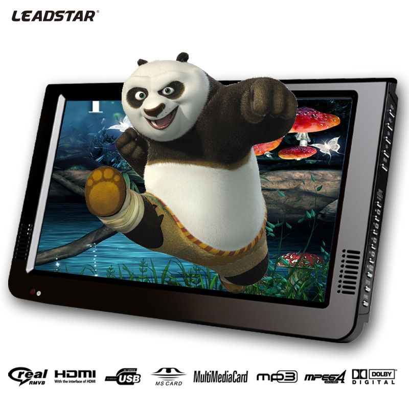 Leadstar,10 Inch DVBT/DVBT2&Analog /ATSC Mini Led HD TV All In 1 HDMI IN AV Out Support USB SD Card