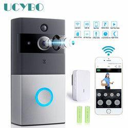 WIFI Video doorbell camera intercom system wireless home ip door bell phone chime w/ PIR 2 way audio iOS Android battery powered