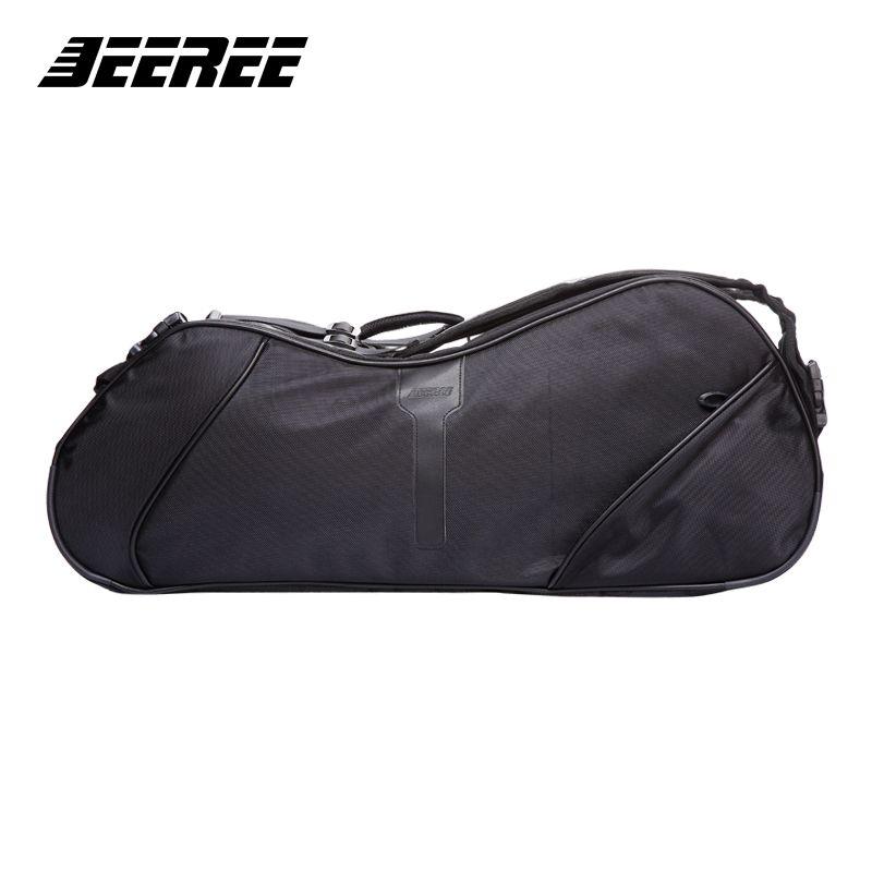 Große Schläger Sporttasche Badminton Tasche Armbrust Wasserdichte mehrschichtige Platzierung Tennisschläger Dacron rucksack schuhe Tasche